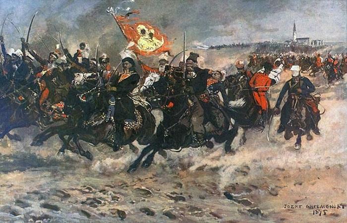 Как мятежный поляк стал отцом кавалерии США и почему американцы при жизни терпеть его не могли. Картина Йозефа Хелмонского.